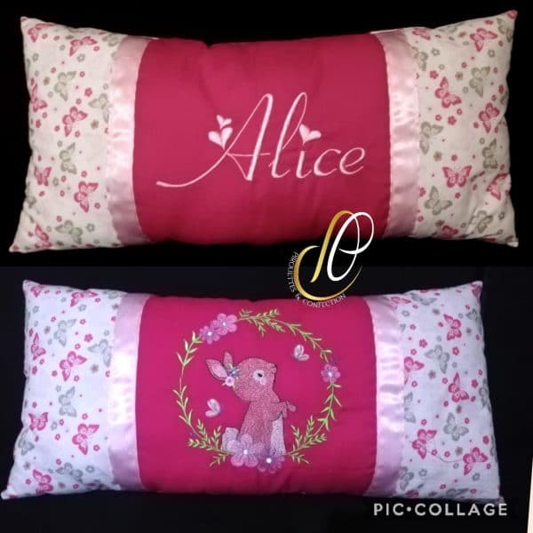 coussin alice lapin